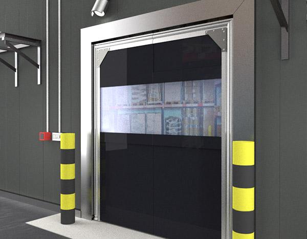 & Tri-Panel PVC Crash Door - Crash Doors